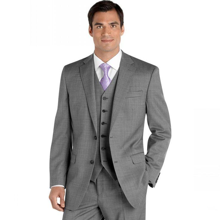 На заказ мужские светло-серые костюмы куртка брюки вечернее платье свадьба жениха смокинг жилет галстук на Алиэкспресс русском языке рублях