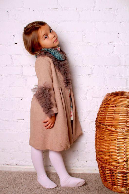 Coat for girl / Верхняя одежда ручной работы. Пальто из итальянской шерсти. Aнастасия (tochkaforkids). Интернет-магазин Ярмарка Мастеров. Пальто, одежда для девочек