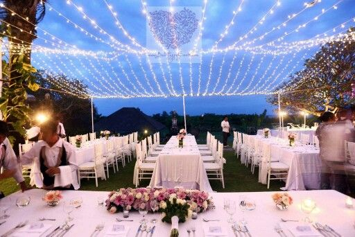 We love how the lights bring the romantic and elegant mood.  To see more picture of our work, please visit our websitewww.balihappyevents.com. To plan your wedding, drop us a message atgrazyna@balihappyevents.com #balihappyevents#baliwedding#baliweddingorganizer#weddingplanner#bali#weddings#weddinginspirations