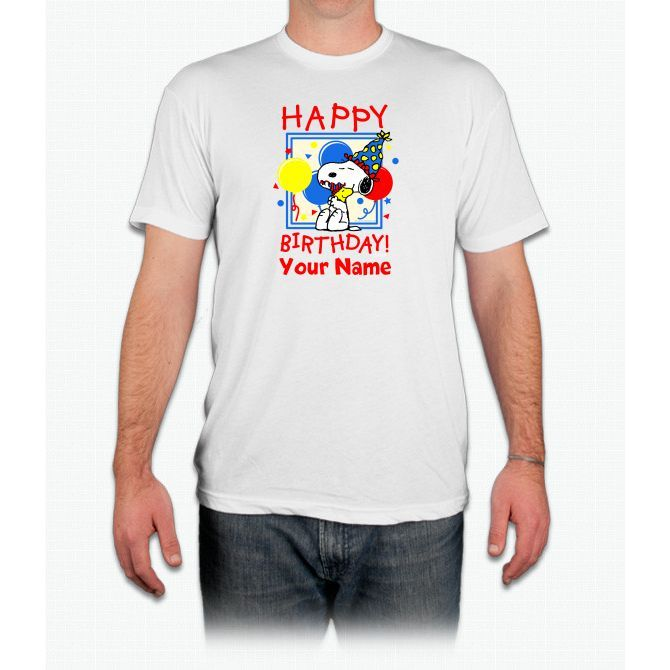 Peanuts Happy Birthday Red Personaliz Charlie Brown - Men T-Shirt
