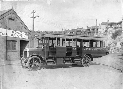Birrell St. & Railway via Bondi Junction bus ... between 1915-1930 ... Hall & Co. ... sl.nsw