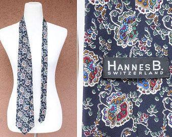 Hannes B. Paisley Silk Tie