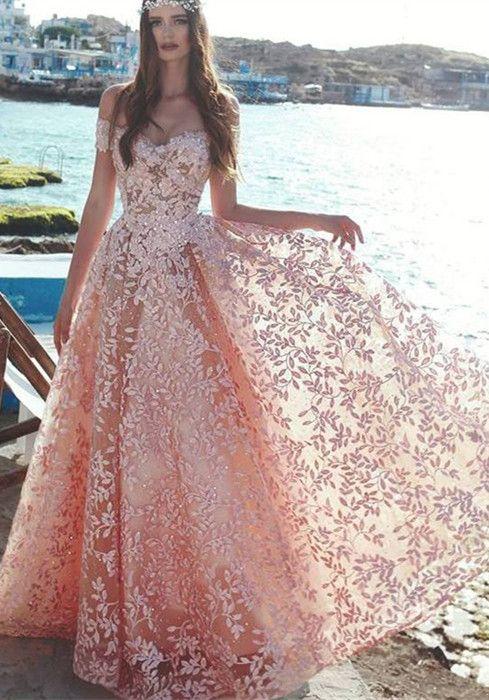 f615333f3610d Elegant Off-the-Shoulder 2019 Evening Dress