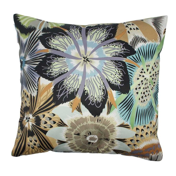 Missoni Cushion in Passiflora Green Mixed Colors 40x40 cm