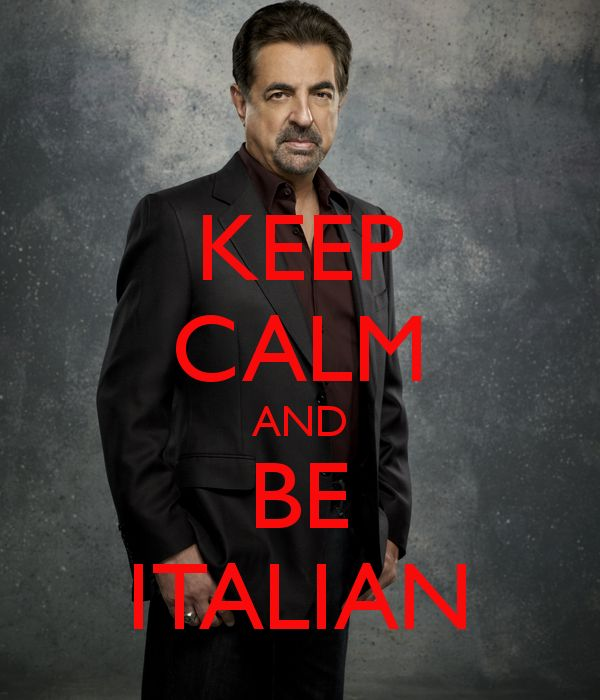 keep calm and be italian -