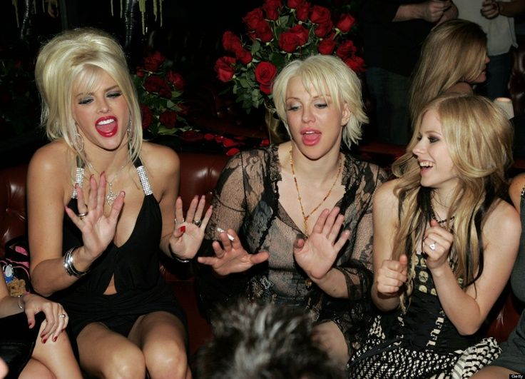 anna nicole, courtney love, and avril lavigne