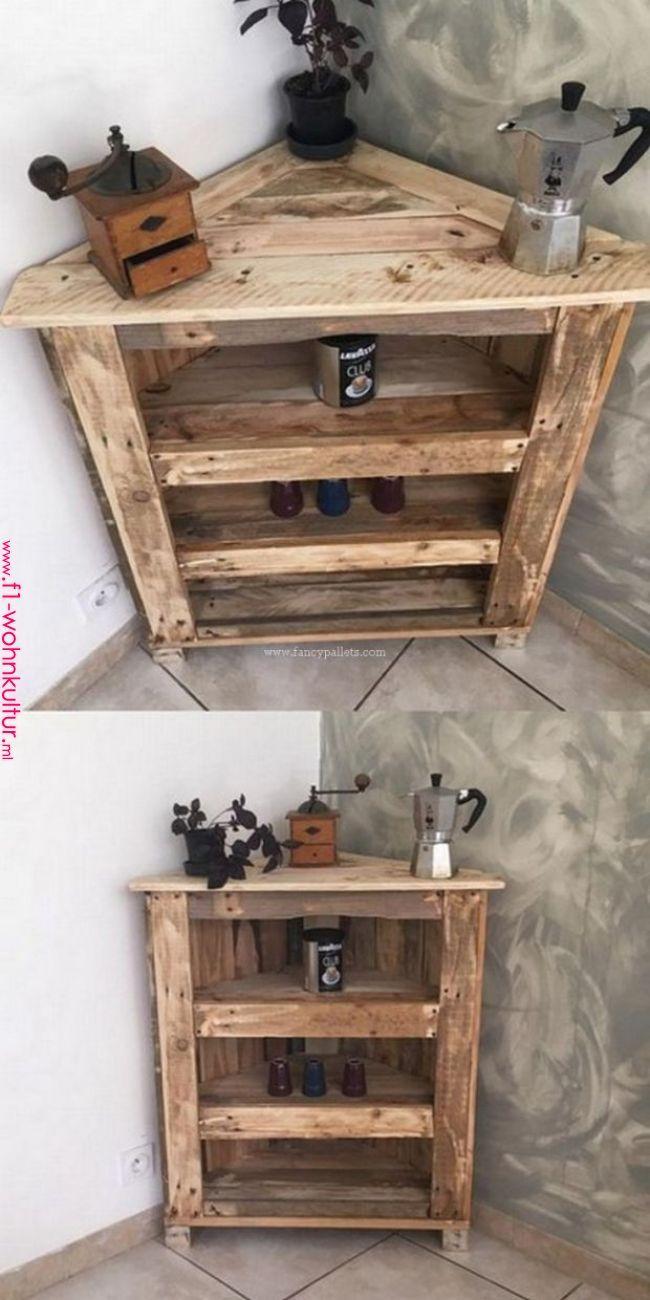 Diy Pallets Corner Cabinet Design Cabinet Corner Design