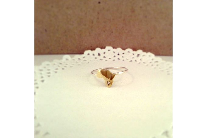 Handmade Sterling Silver Brass Africa ring by GloveJewellery for sale on http://hellopretty.co.za