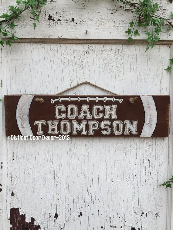 Pallet Wood Football Door/Wall Hanger 21 X 5.5 by AinsleysAtticLLC