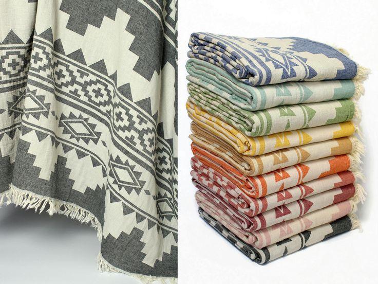 Boho Throw Blanket | Aztec Blanket | Navajo Throw | 100% Cotton Throws for Sofa | Southwestern Design Picnic Blanket | Native American Beach by LinenWorld on Etsy https://www.etsy.com/listing/583712541/boho-throw-blanket-aztec-blanket-navajo