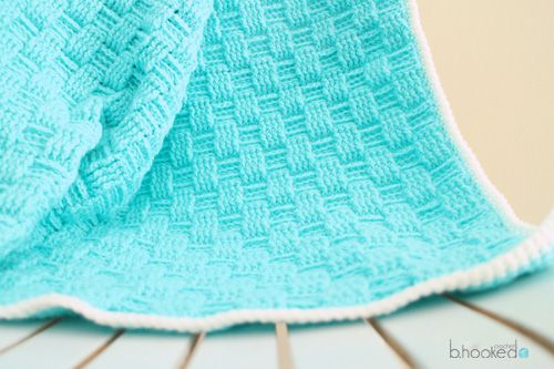 Basket Weave Baby Blanket by: Crochet b.hookeed