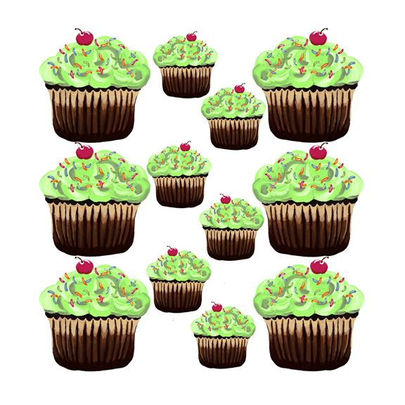 10 best Cupcakes & Candyland Decals & Accessories images ...