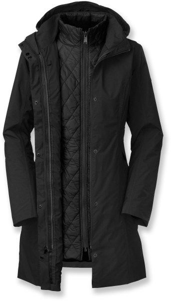 The North Face 3-in-1 B Tri-Climate jacket. Bought it for the waterproofness. Not so waterproof.  Hard lesson for a $400 coat!