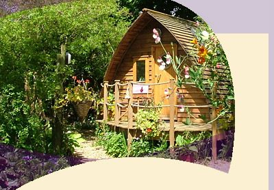 Wooden wigwam pod, SW Scotland country retreat, tranquility, wildlife pond.