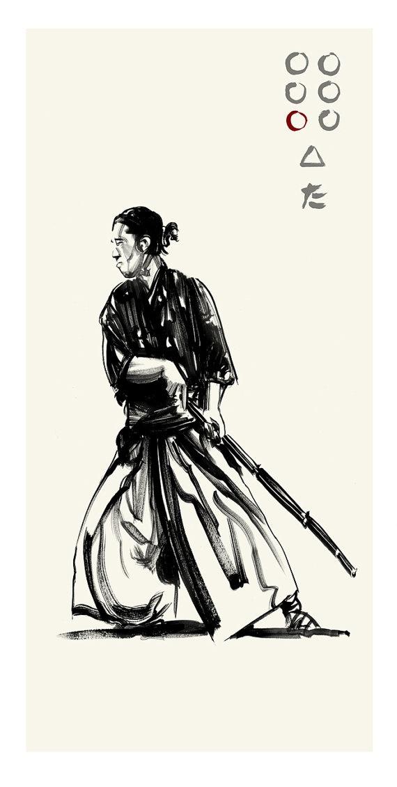 Akira Kurosawa's Seven Samurai - Kyuzo by Greg Ruth ✤ || CHARACTER DESIGN REFERENCES |