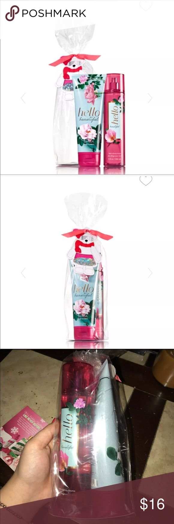 🌸Hello Beautiful gift set BRAND NEW!   Me. Sparkle Pants gift set. Bath & Body Works  Comes with a bear in confetti pants gift tag. Includes hydrating Ultra Shea Body Cream (8 oz) amp; Long Lasting Fine Fragrance Mist (8 fl oz).  *SOLD OUT IN STORES* Bath and Body Works Other