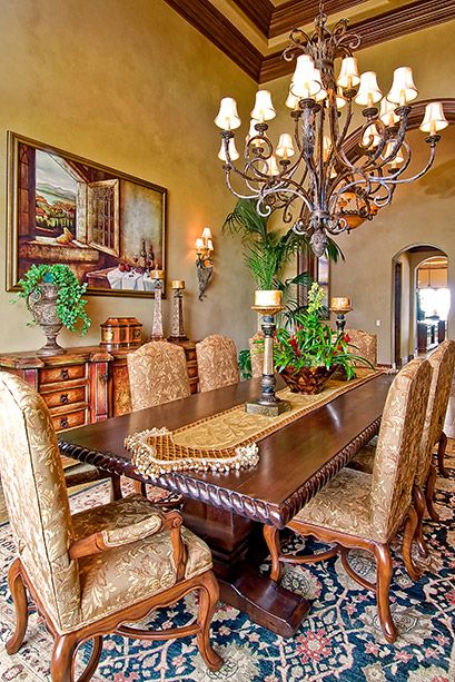Tuscan Dining Room #Home #Tuscan #Design - Find more Ideas on www.IrvineHomeBlog.com/HomeDecor  Irvine, California - Christina Khandan ༺༺ ℭƘ ༻༻
