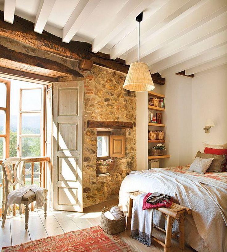 adelaparvu.com despre casa rustica din piatra, interior provensal, casa Spania, design interior Blanca Uriarte, Foto ElMueble (14)