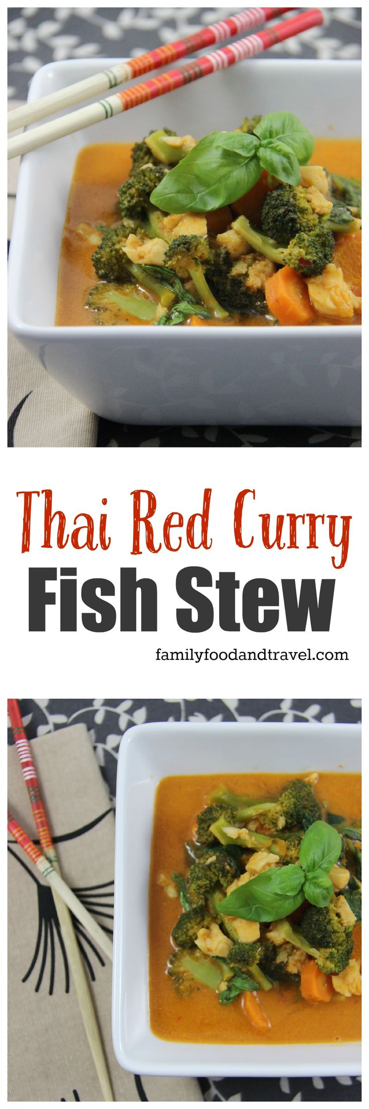Thai Red Curry Fish Stew a delicious combination of Thai curry, lots of fresh vegetables and light sole. A fast weeknight dinner filled with flavour.