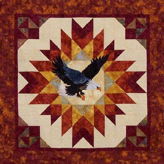 A Blaze Of Glory Eagle Quilt Pattern From Cotton Tales