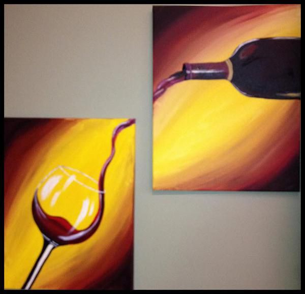 """Paint and sip """"Pour Me A Glass"""" - Painting and Sipping Events ...                                                                                                                                                                                 More"""