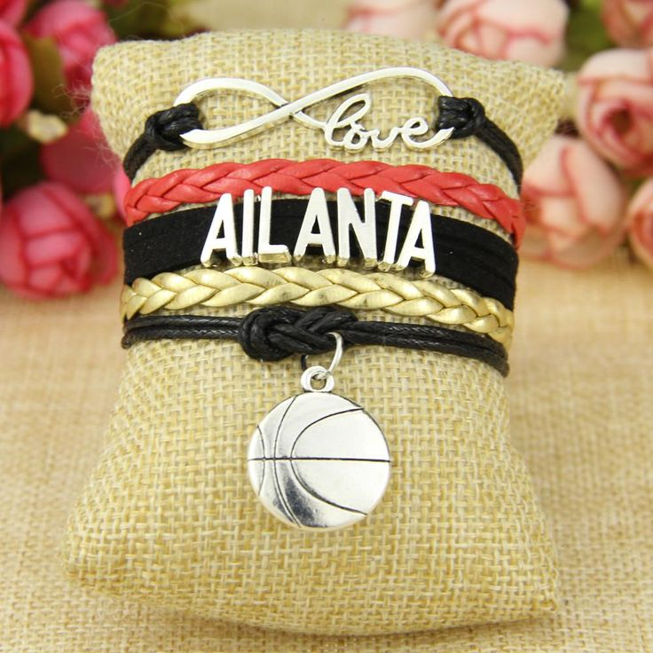 Infinity Love Atlanta Football Team Bracelet