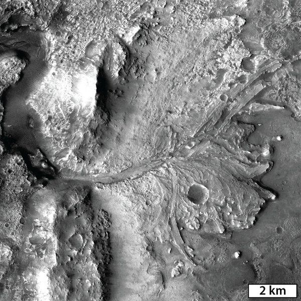 Next is Goudge on the delta in Jezero Crater (one of the Mars 2020 candidate landing sites). #LPSC2016 #Mars