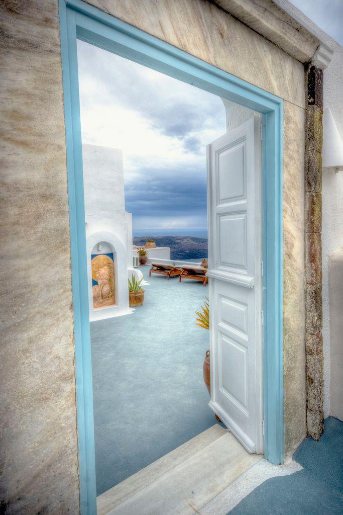 Door to a view, Fira, Santorini