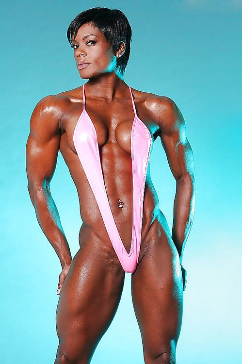 Sexy black muscle women-8795