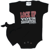 Lock up your daughters onesie: Baby Kids, Daughters Onesie, Baby Cole, Cole Stuff, Baby Things, Daughters Pahaha Stephanie, Daughters Gift, Ideas Things, Baby Boy