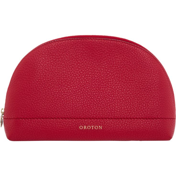Bueno Large Beauty Case in Real Red // Oroton