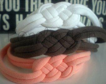 35 colori-SET di fasce nodo marinaio 3-Jersey - annodata fascia Top Knot fascia Stretch