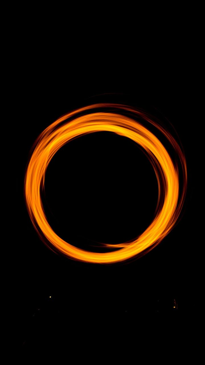 Circle Minimal Light Portal Dark 720x1280 Wallpaper Beats Wallpaper Orange Wallpaper Ring Around The Moon