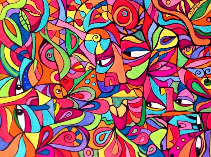 Pintura acrílica sobre tela. Esperanza González
