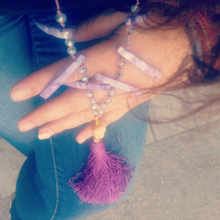 Handmade tassel -fildici necklace