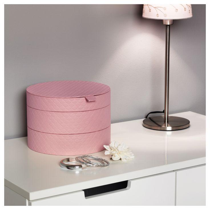 PALLRA χάρτινο κουτί με καπάκι - IKEA. Από εδώ και πέρα θα έχεις κάθε λόγο να τακτοποιείς τα κοσμήματα και τα καλλυντικά σου!