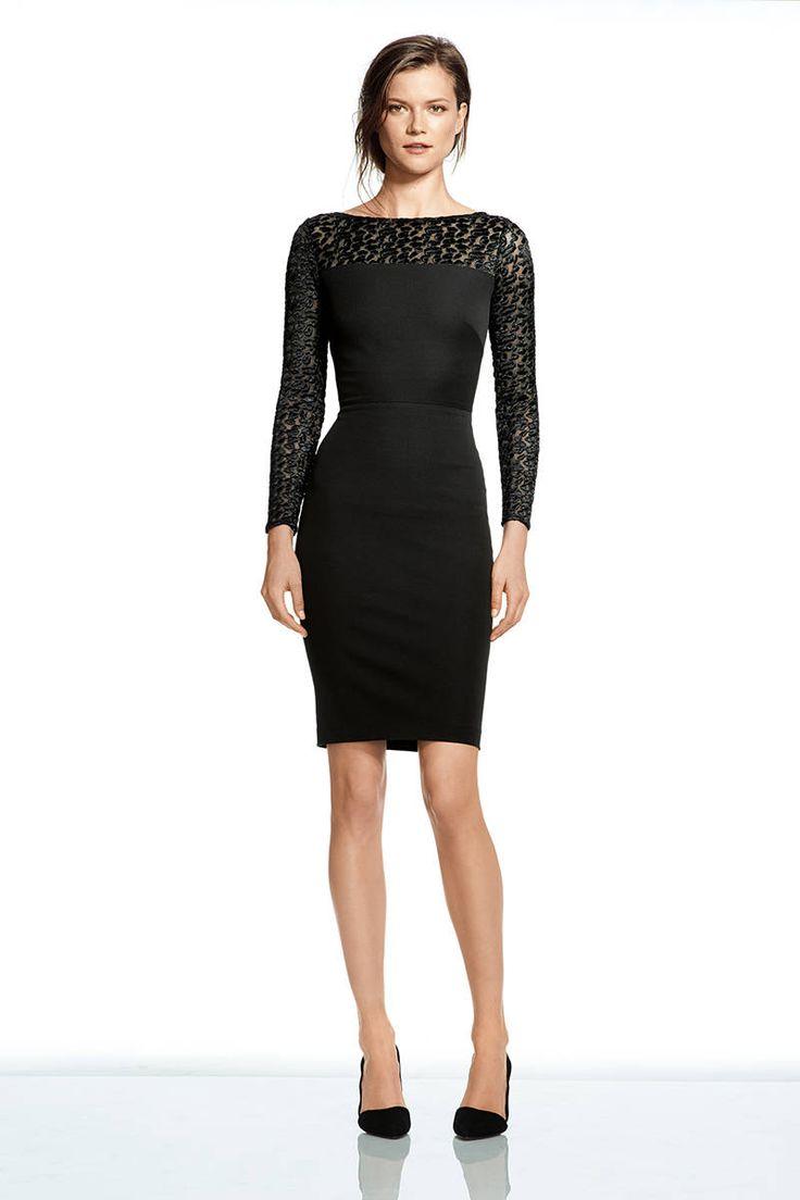 Roland Mouret Banana Republic Collaboration - Elle ... black lace long sleeve sheath cocktail dress  ... this would make a chic bridesmaids dress