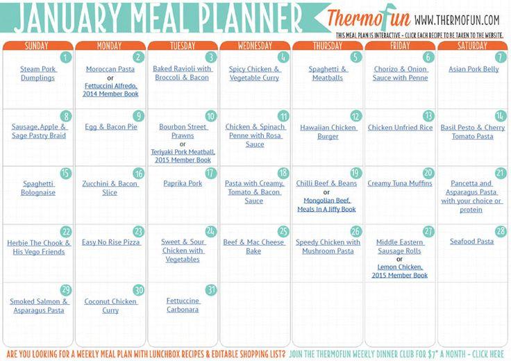 ThermoFun FREE January 17 Meal Plan