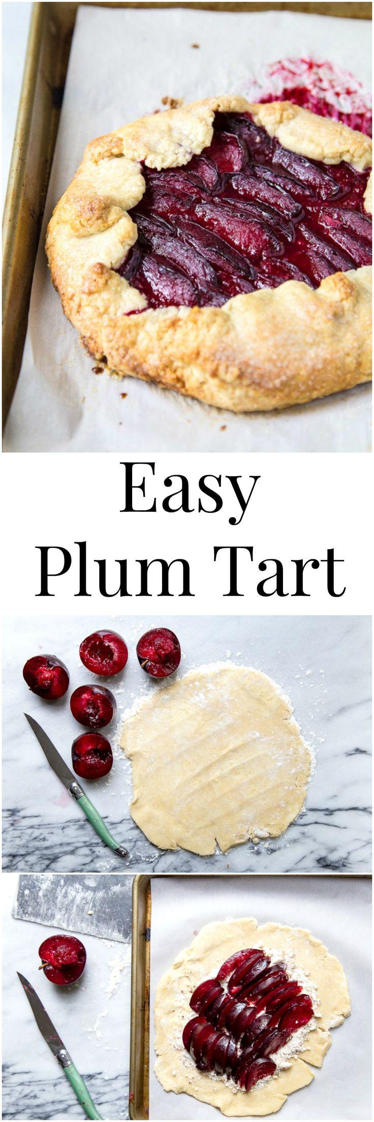 Plum galette recipe using summer stone fruit. I halved Martha Stewart's recipe to make a mini fruit tart, and loved it!