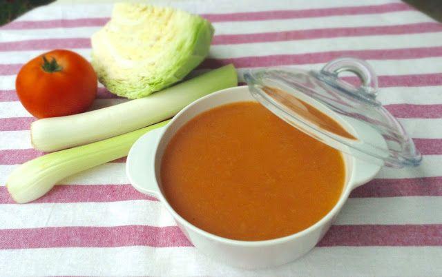Puré depurativo (berza, puerro, cebolla, apio, pimiento y tomate)