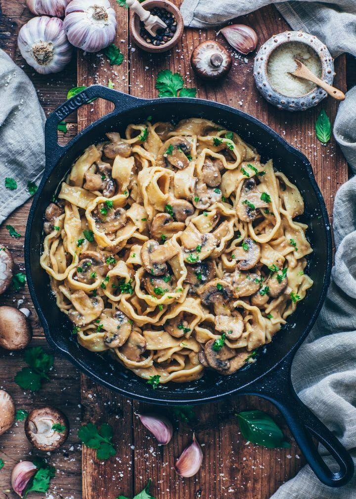 Vegan Mushroom Stroganoff Recipe In 2020 Vegan Stroganoff