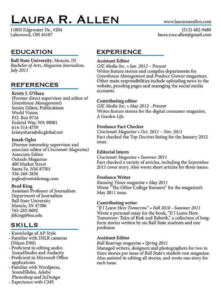 Writing up your report - University of Reading resume writing in