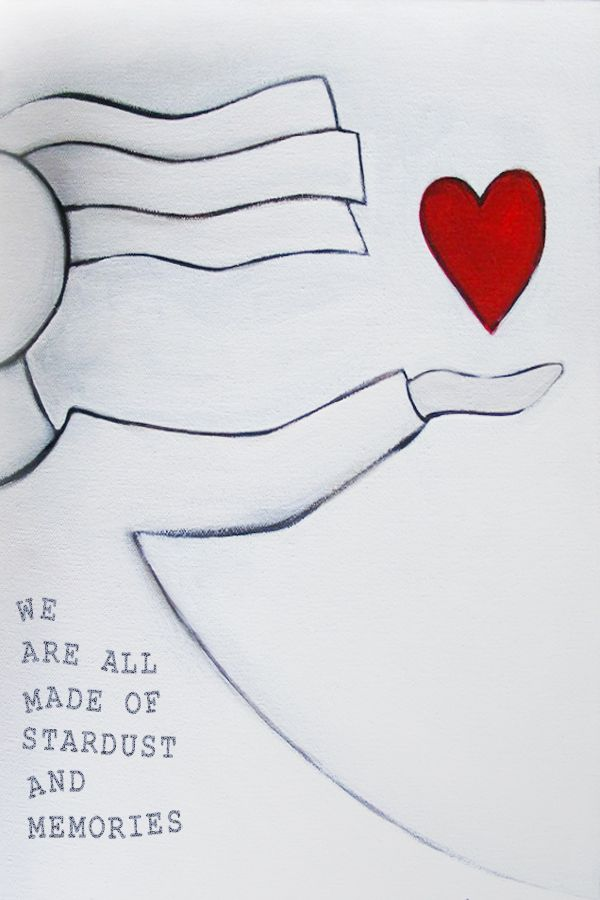 i have stated putting words on my pictures. This love heart picture was a beautiful little painting I did - and then i added words with photoshop