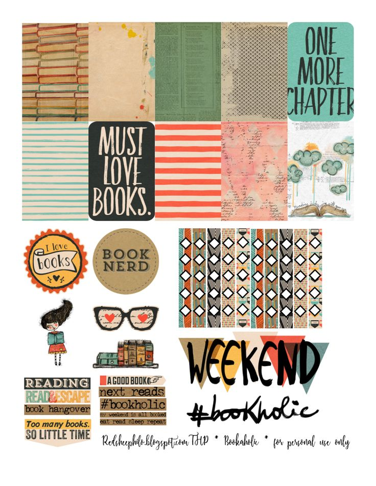 Free redsheep prints i love books freebiefriday