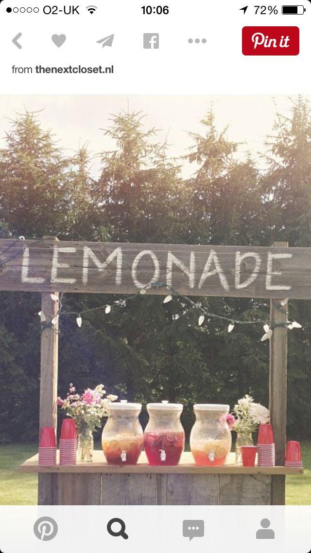 Lemonade bare uden enganskopperne. Måske med syltetøjsglas