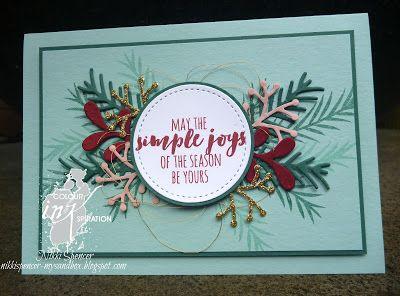 Nikki Spencer-My Sandbox: Colour INKspiration #24  #christmaspines #stampinup