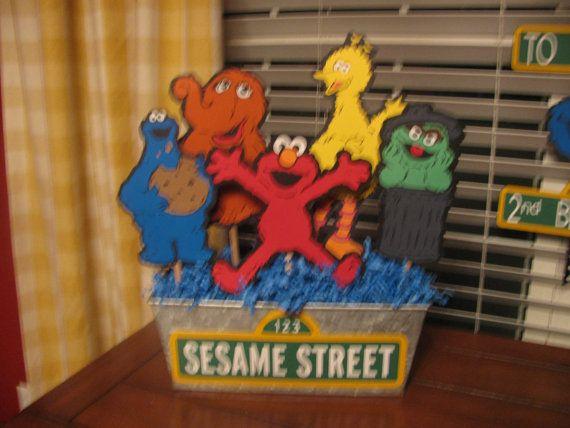 Sesame Street Character Centerpiece by JeanineJordan on Etsy