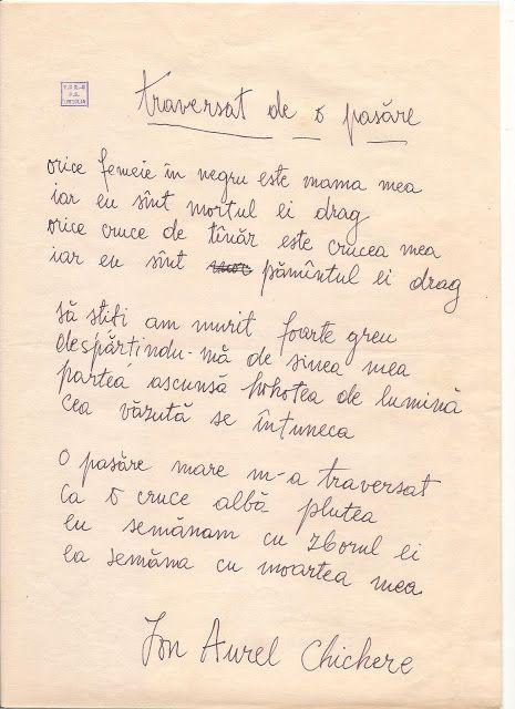"""Petre Stoica, remember necesar: Arhiva literara personala """"Petre Stoica"""" - Ion Chi..."""
