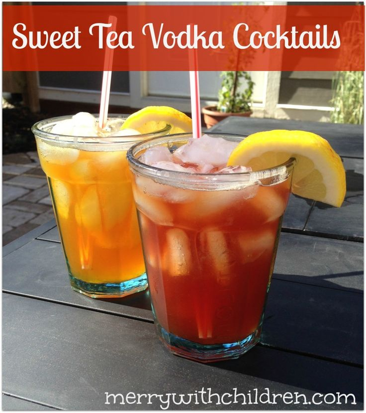 Sweet Tea Vodka Cocktails complete with recipe to make your own Sweet Tea Vodka.