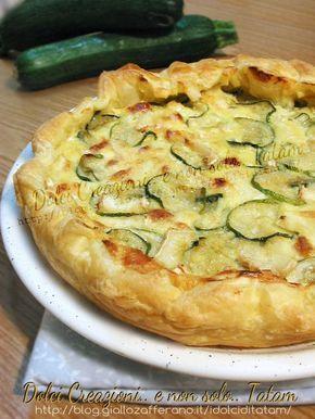 Torta salata con zucchine e brie Un fragrante guscio di pasta sfoglia, racchiude un ripieno morbido e gustoso a base di zucchine trifolate, mozzarella e ...